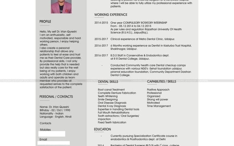 Resume designer in udaipur