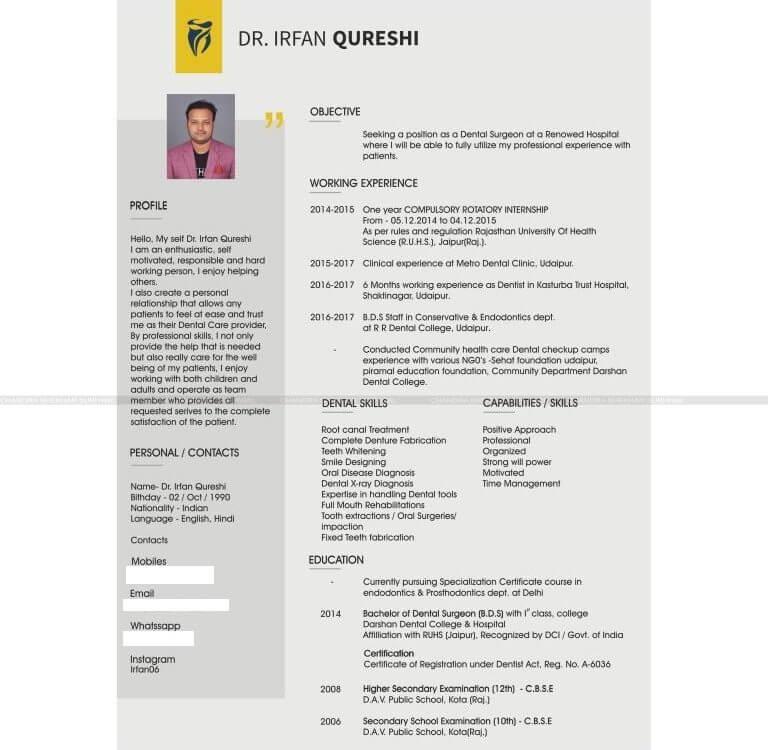 Resume designer in udaipur